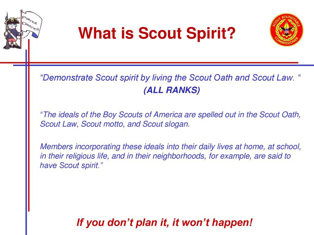 Scout Spirit Discipline Ppt Download