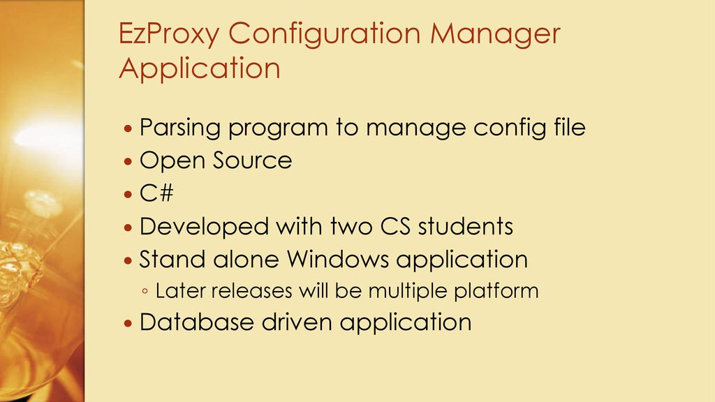 EzProxy Config Manager an Open Source Application - ppt download