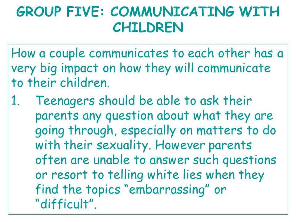 Question 4: Fostering communication