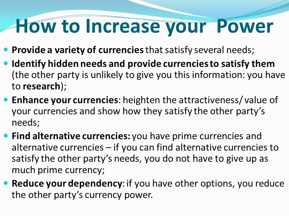 How to Increase your Power
