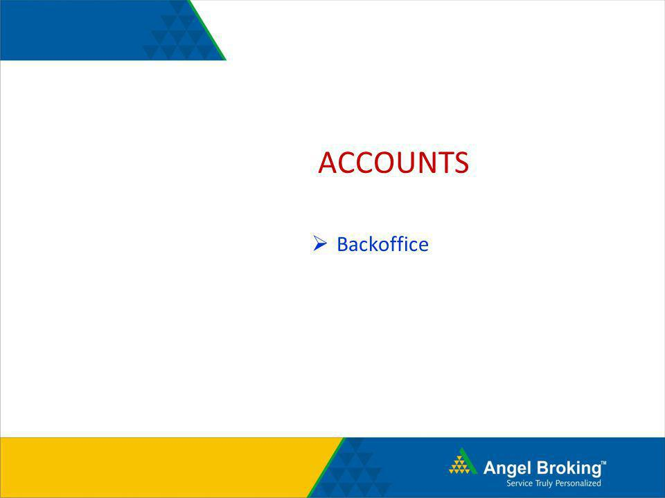 ACCOUNTS Backoffice
