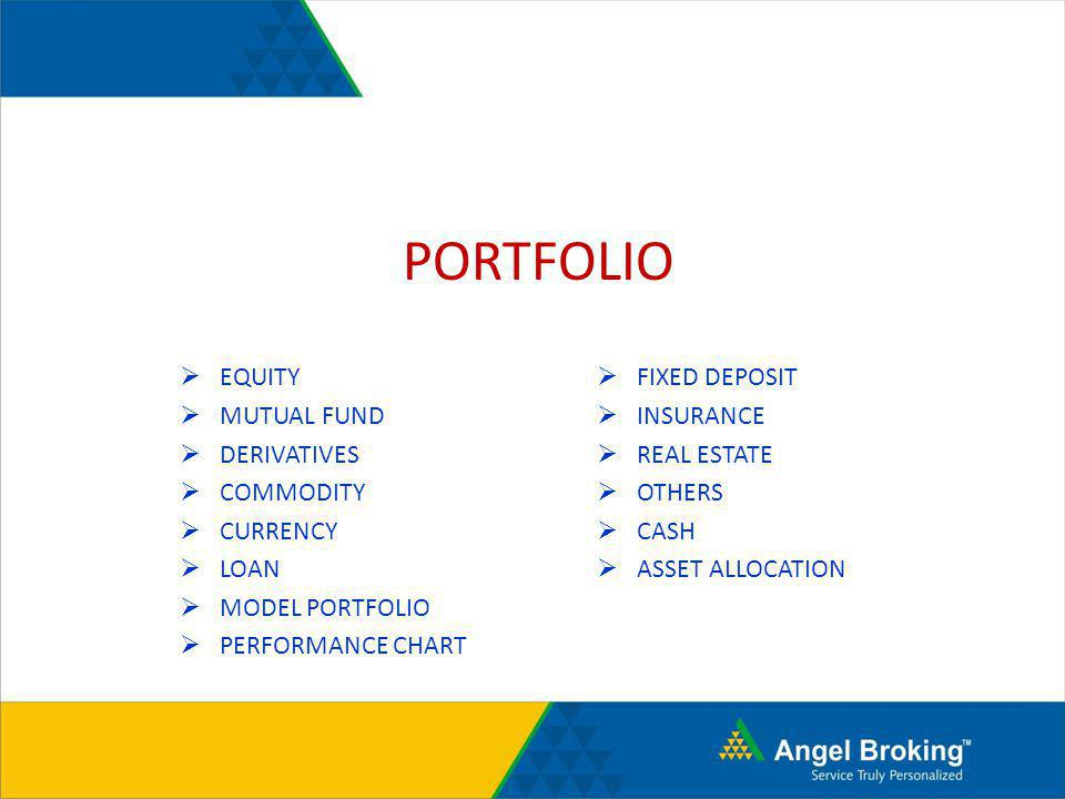 PORTFOLIO EQUITY MUTUAL FUND DERIVATIVES COMMODITY CURRENCY LOAN