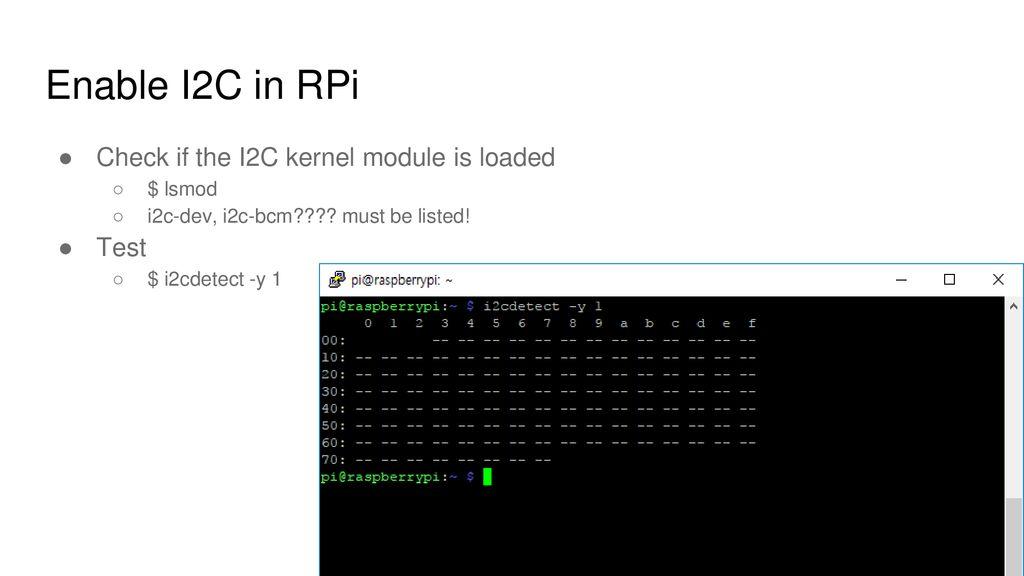 RPi 2/3, I2C, Analog Sensor - ppt download