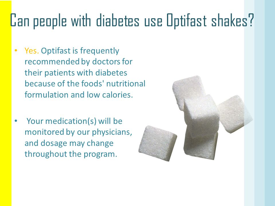 Can people with diabetes use Optifast shakes