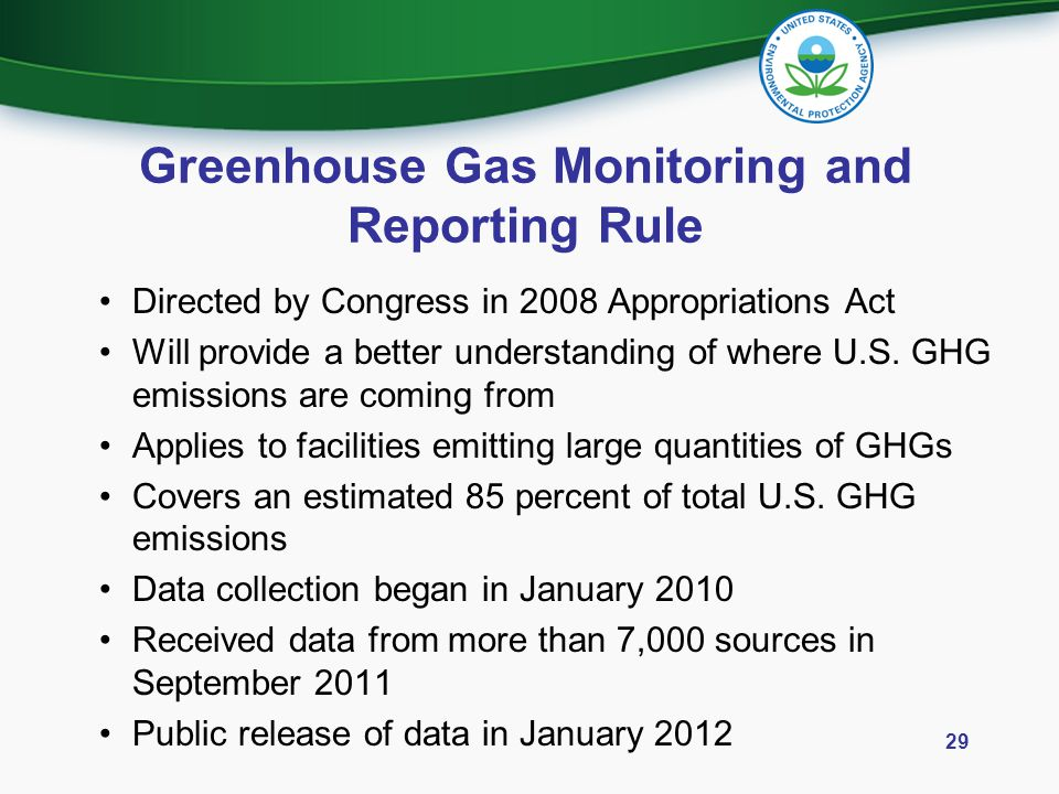 Greenhouse Gas Monitoring and Reporting Rule