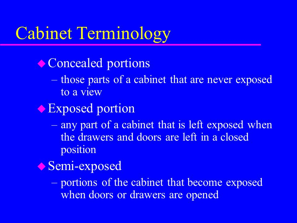 Type And Classification Termsmaterialsize Of Cabinets Ppt Download