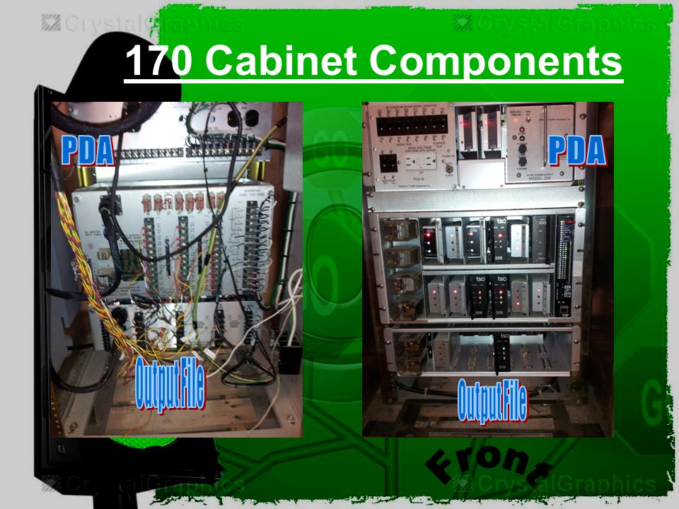 170 Cabinet Components PDA PDA Output File Output File Back Front