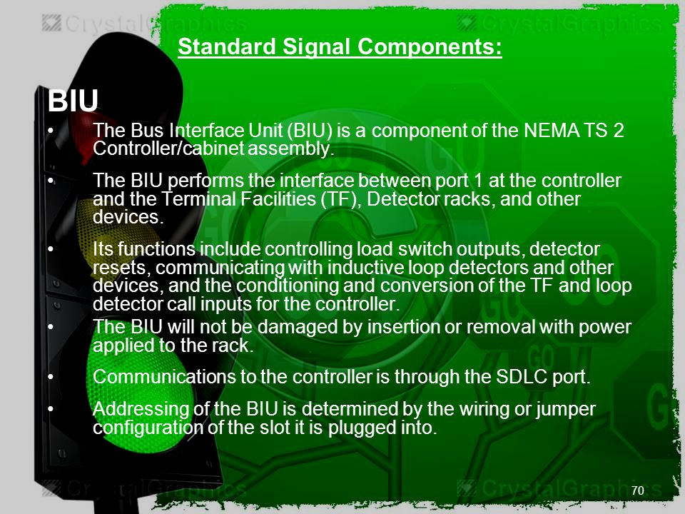 Standard Signal Components: