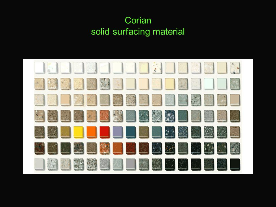 Corian solid surfacing material