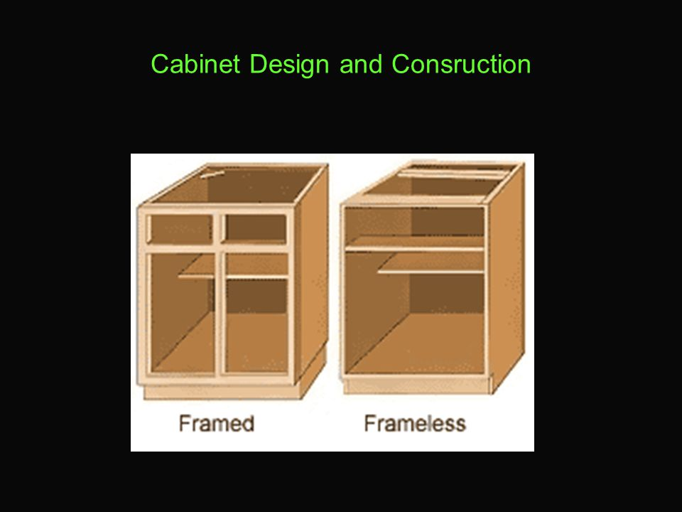 Cabinet Design and Consruction