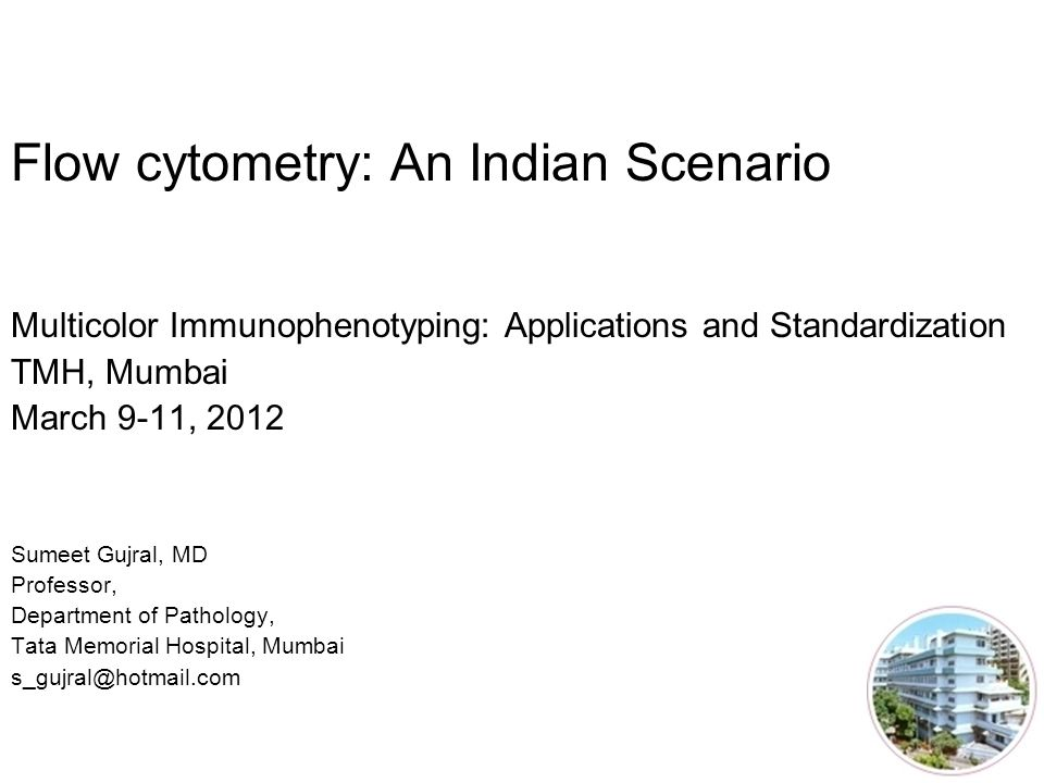 Flow cytometry: An Indian Scenario