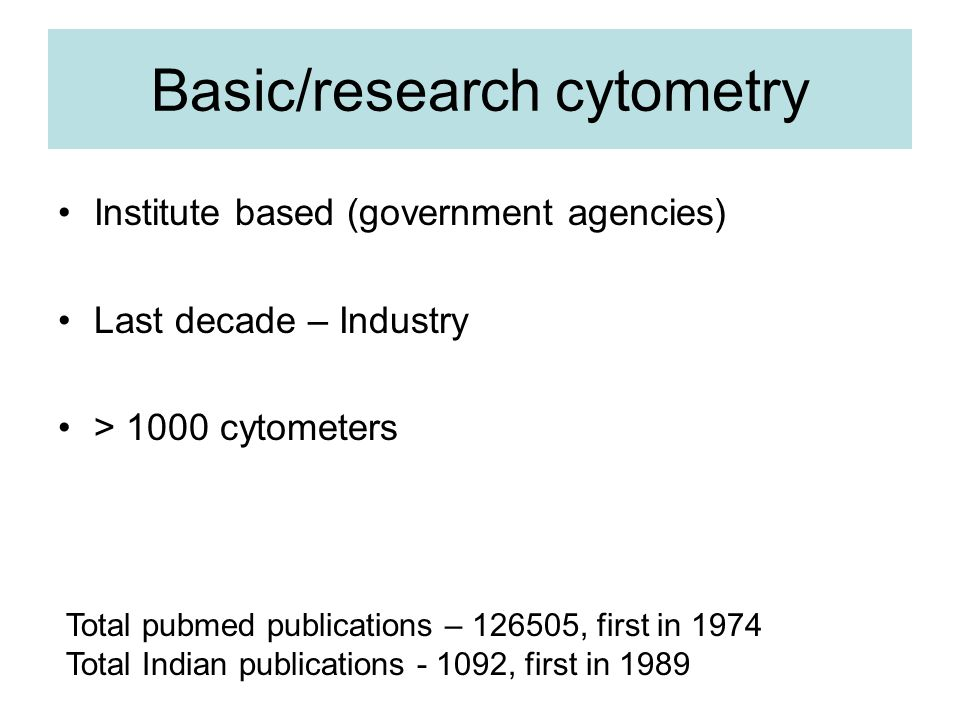 Basic/research cytometry