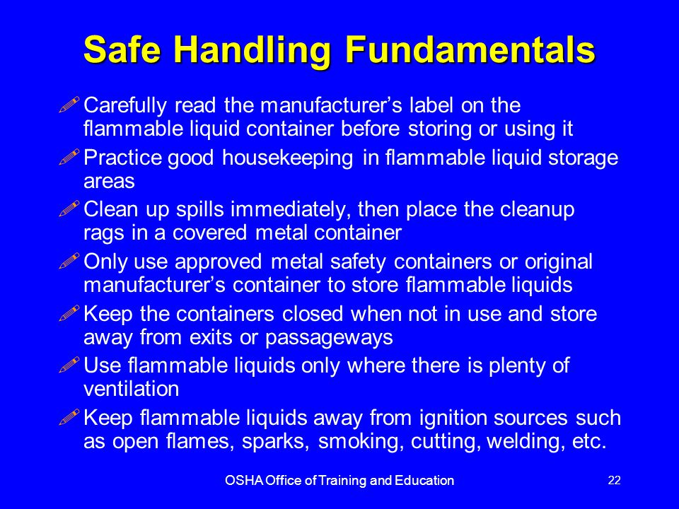 Safe Handling Fundamentals
