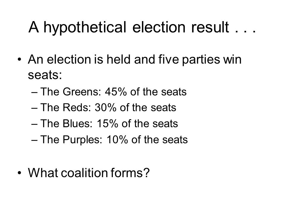 A hypothetical election result . . .