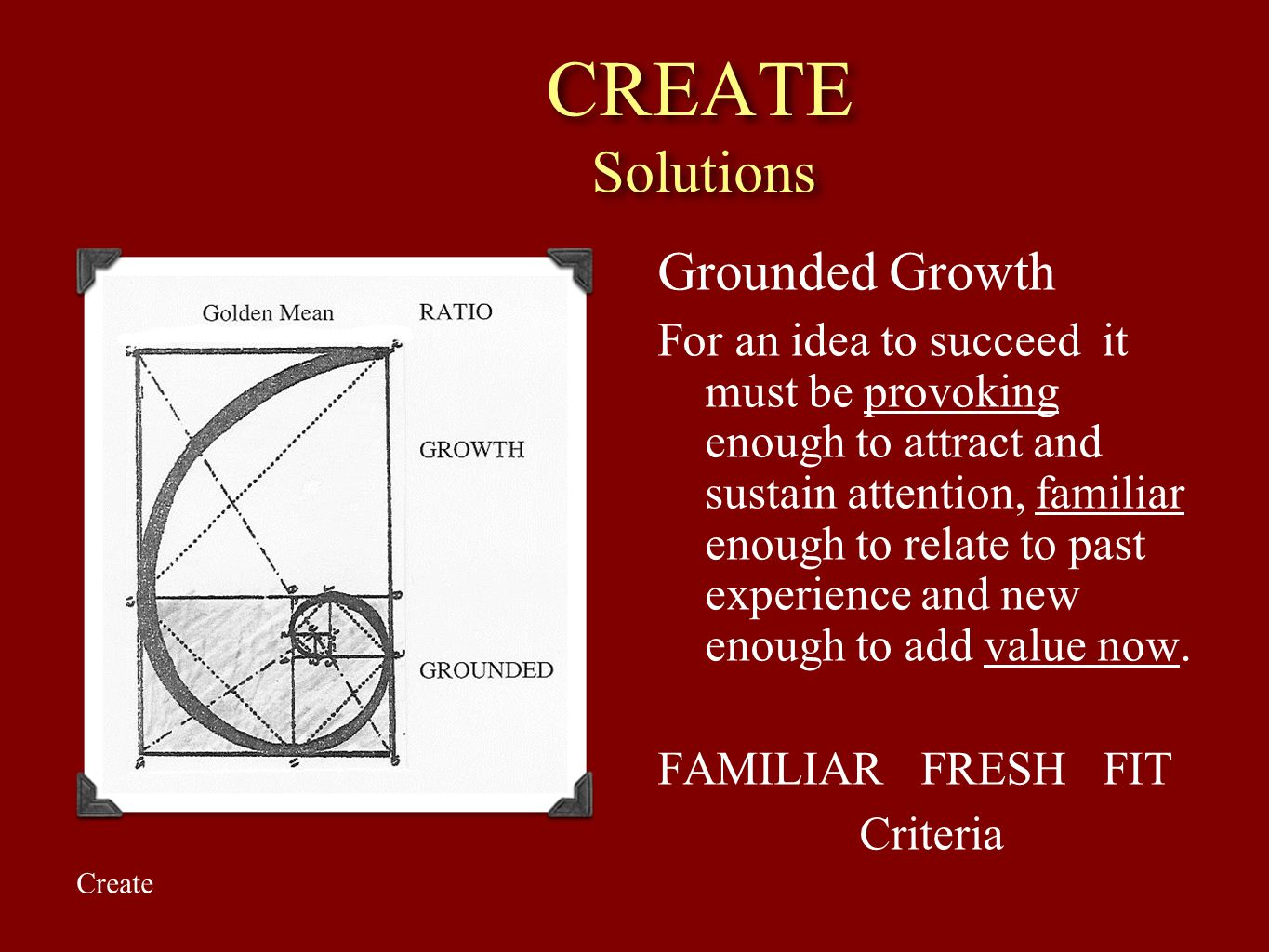CREATE Solutions Grounded Growth