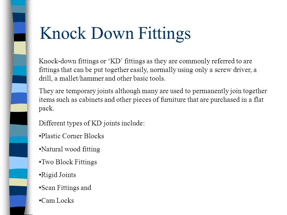 Knock Down Fittings