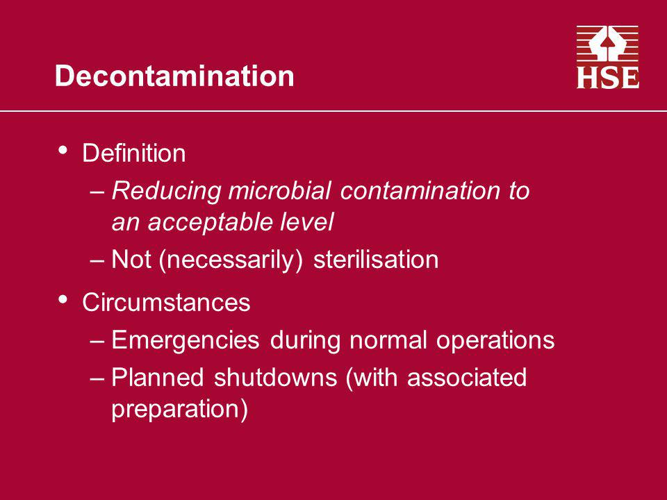 Decontamination Definition