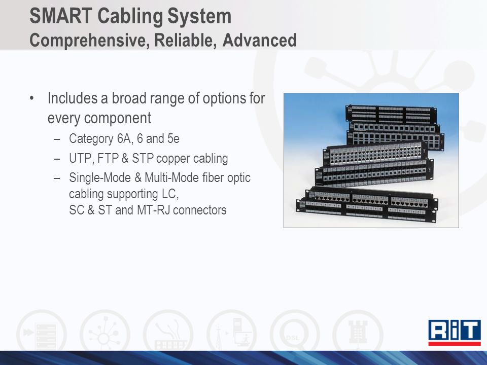 SMART Cabling System Comprehensive, Reliable, Advanced