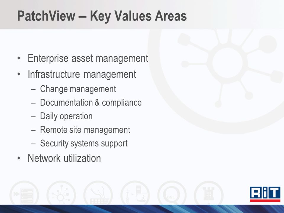 PatchView – Key Values Areas