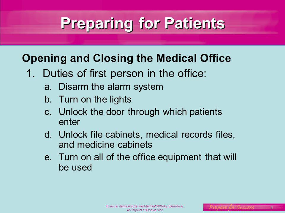 Preparing for Patients