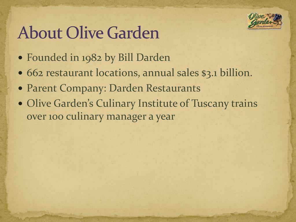 Olive Garden Marketing Plan Ppt Download