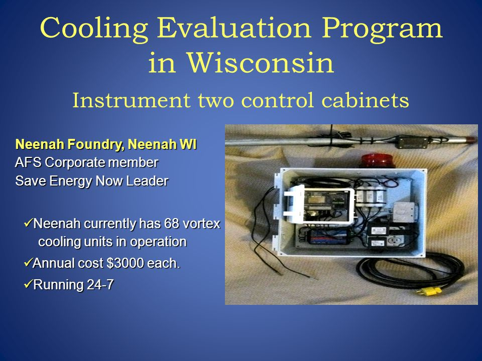 Cooling Evaluation Program in Wisconsin