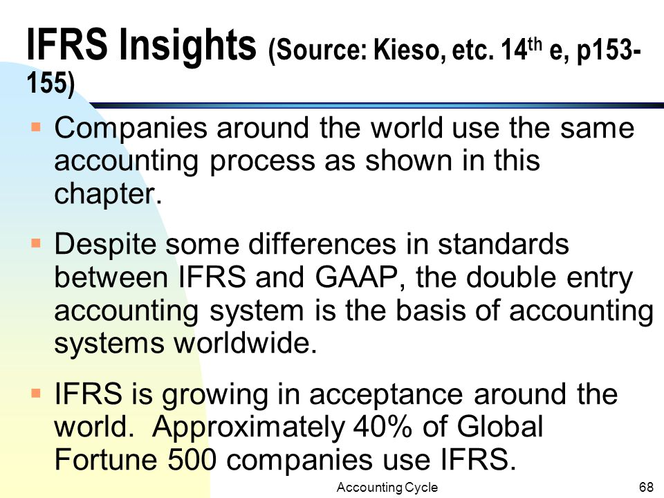 IFRS Insights (Source: Kieso, etc. 14th e, p153-155)