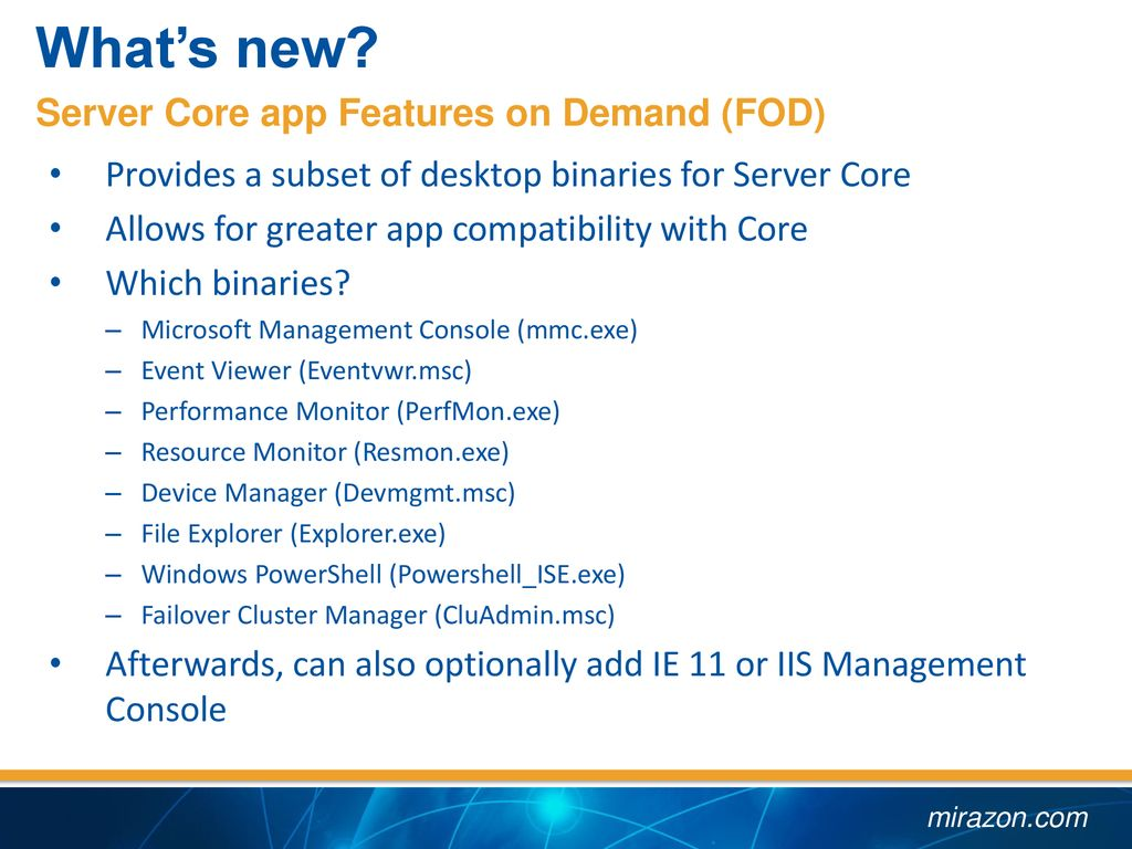 Windows Server 2019 What's new, and what's improved - ppt