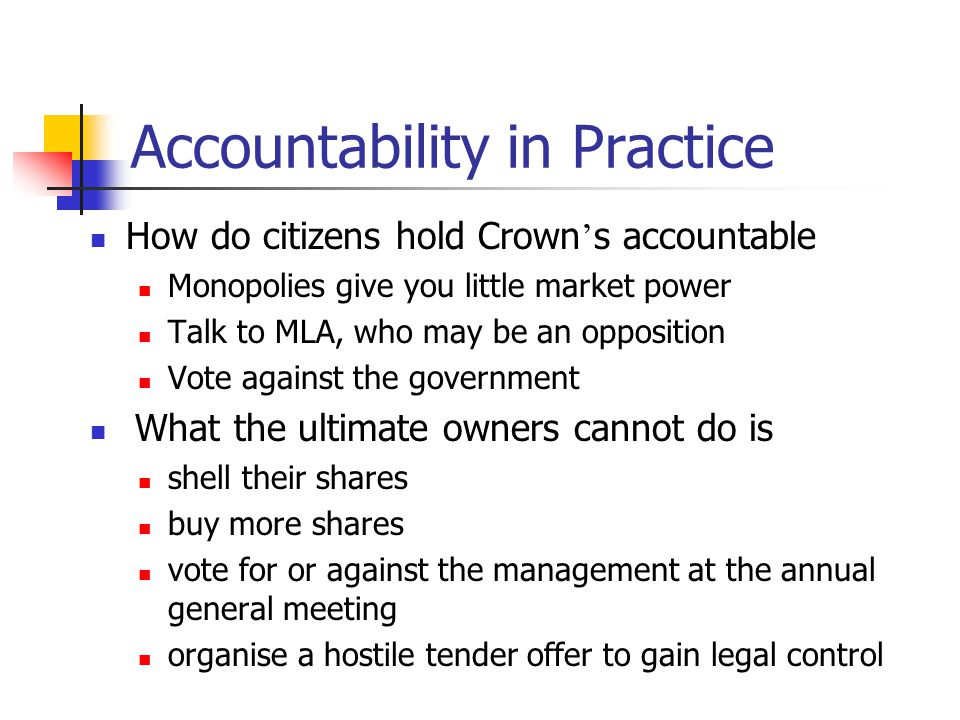 Accountability in Practice