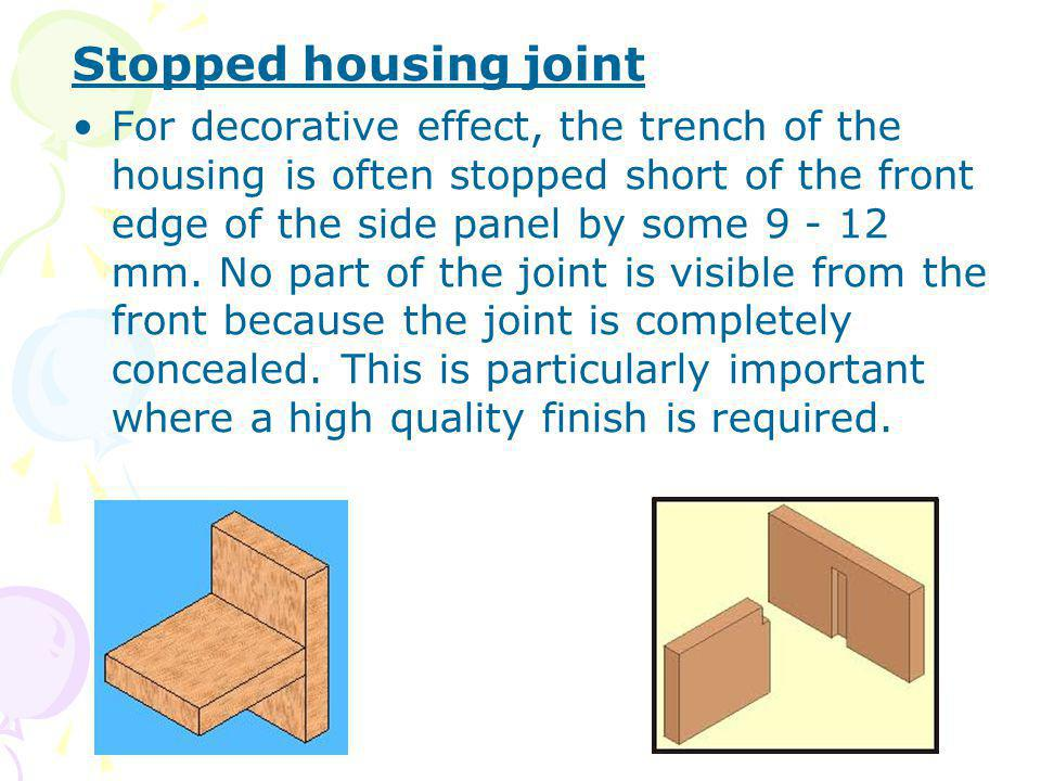 Stopped housing joint