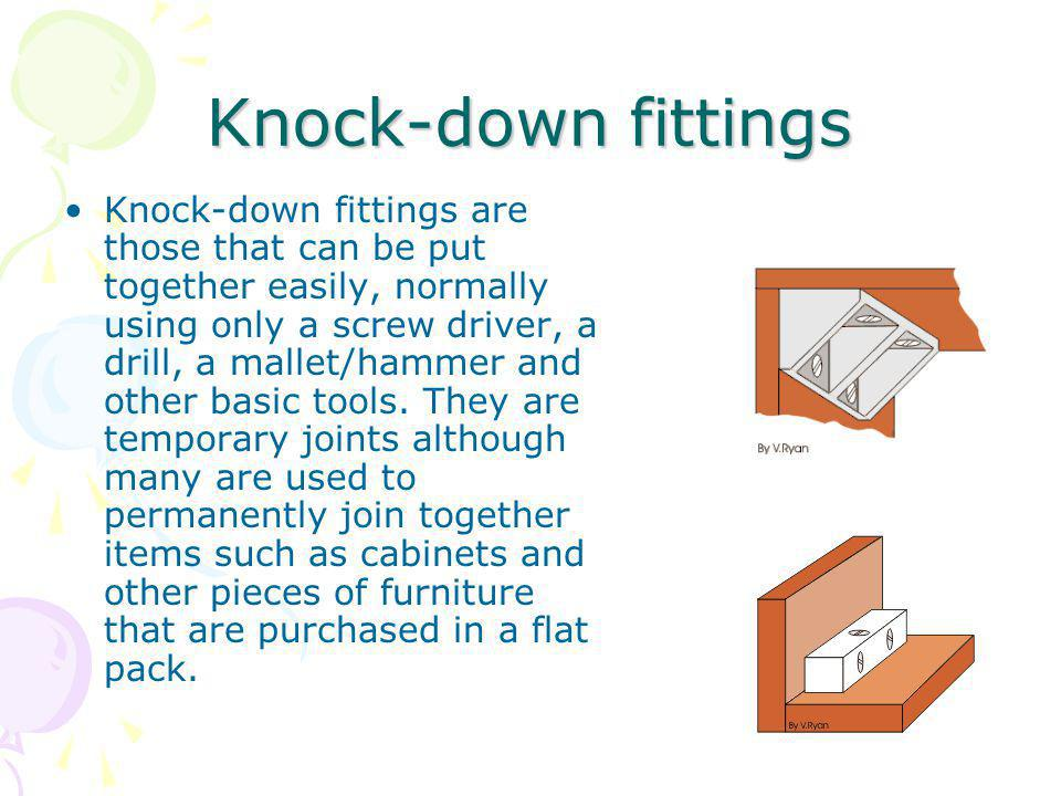 Knock-down fittings