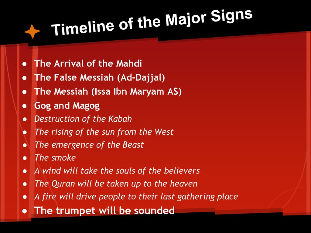 Major signs of the Day of Judgement - ppt download