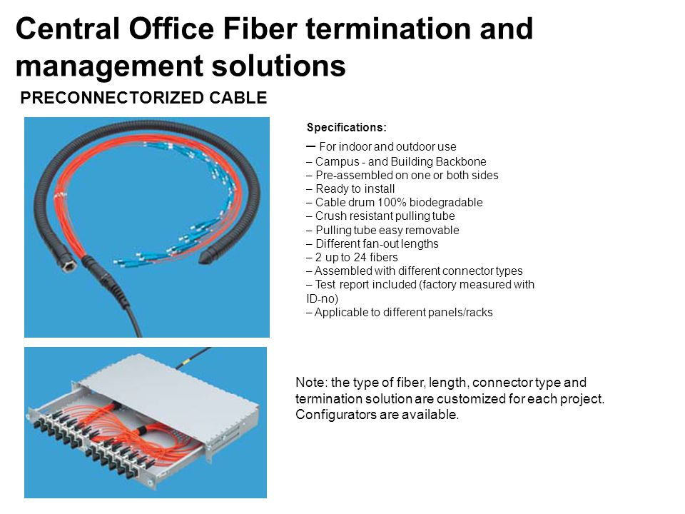 Central Office Fiber termination and management solutions