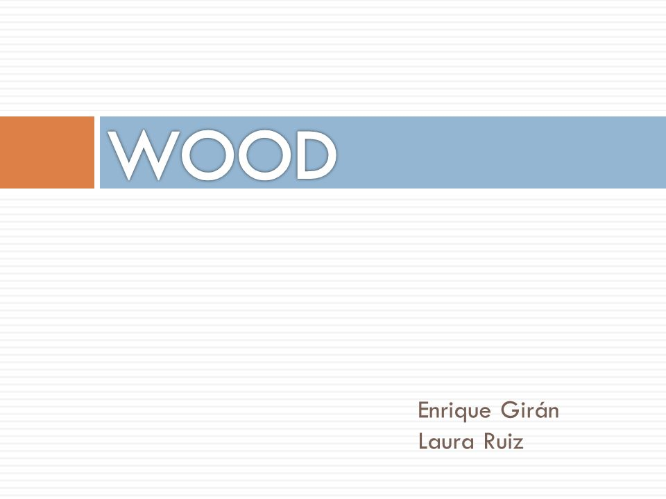WOOD Enrique Girán Laura Ruiz