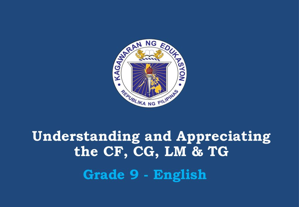 Understanding and Appreciating the CF, CG, LM & TG - ppt download