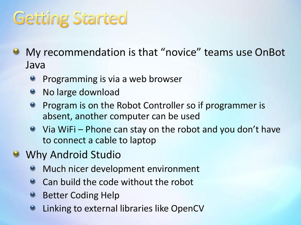 Android Programming OnBot Java  - ppt download