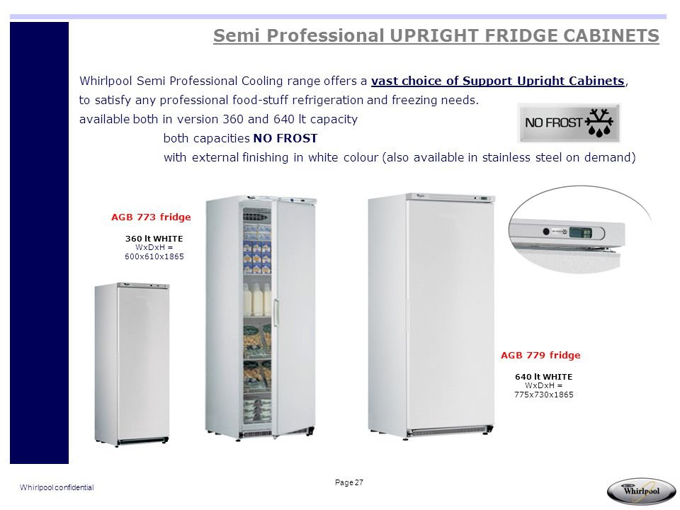 Semi Professional UPRIGHT FRIDGE CABINETS