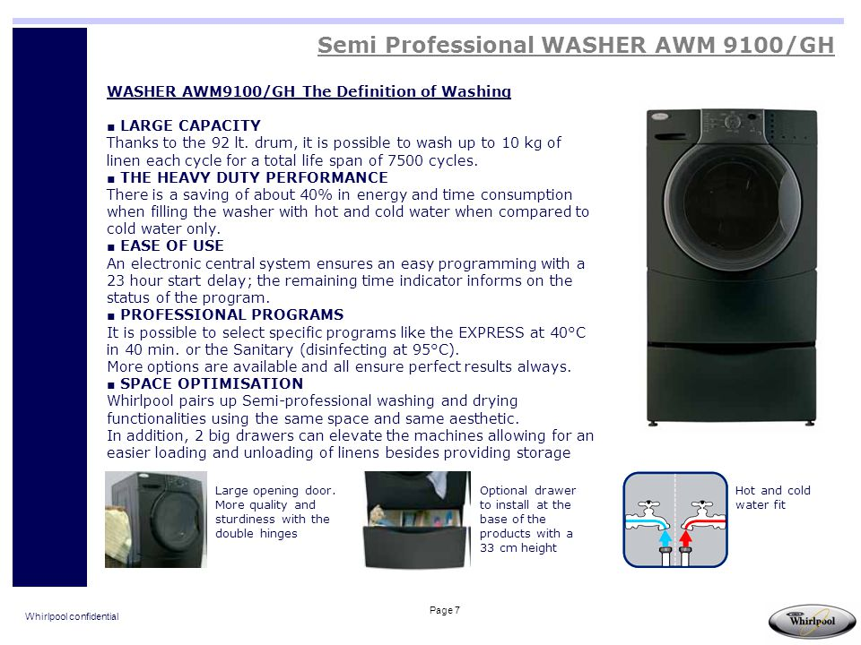 Semi Professional WASHER AWM 9100/GH