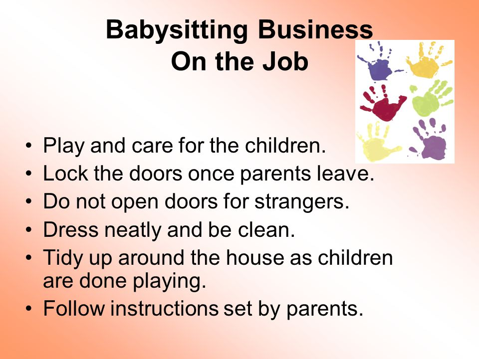 babysitting basics ppt download