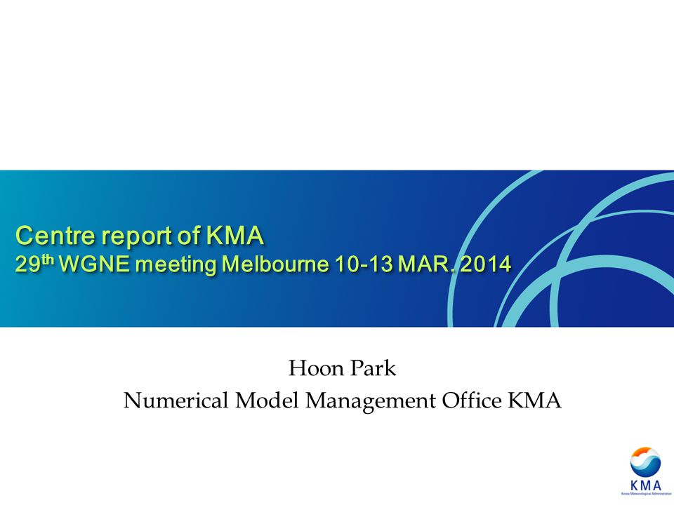 Numerical Model Management Office KMA