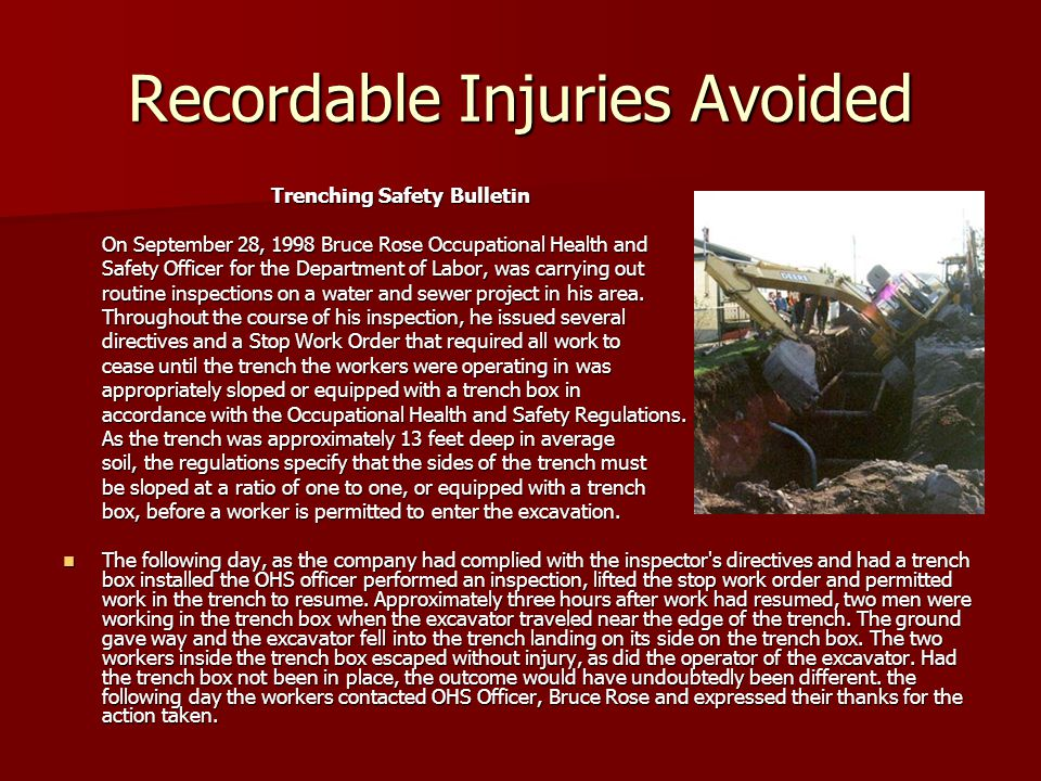 Recordable Injuries Avoided