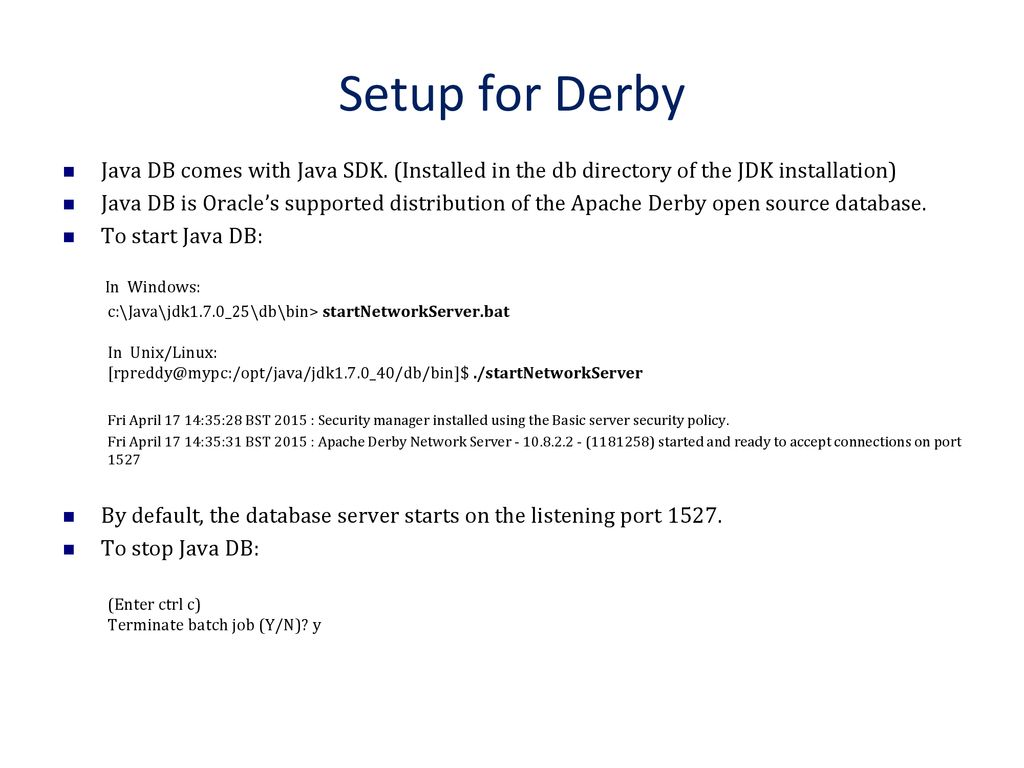 Database applications with Java - ppt download