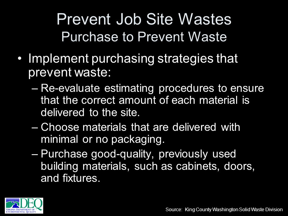 Prevent Job Site Wastes Purchase to Prevent Waste