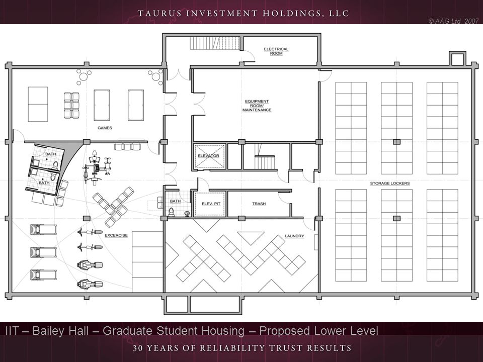 IIT – Bailey Hall – Graduate Student Housing – Proposed Lower Level
