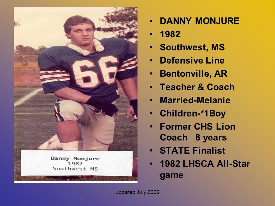 Former CHS Lion Coach 8 years STATE Finalist 1982 LHSCA All-Star game