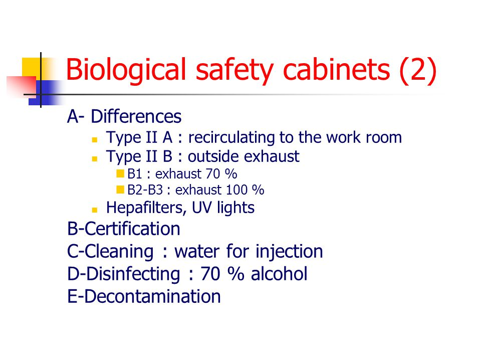 Biological safety cabinets (2)