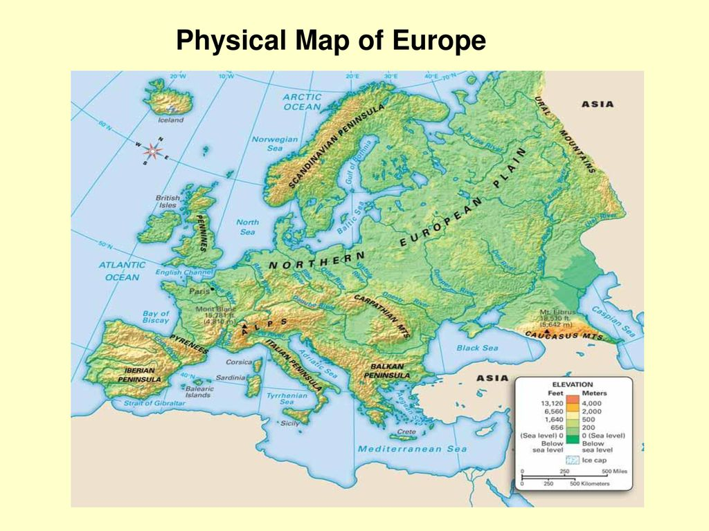 Picture of: Physical Geography Of Europe Ppt Download