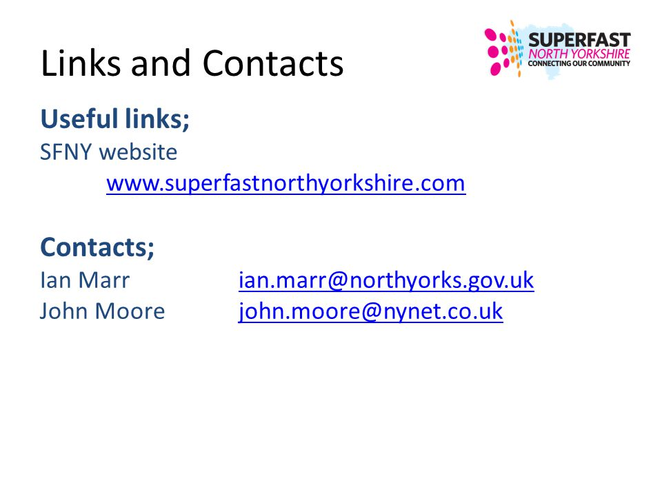 Links and Contacts Useful links; Contacts; SFNY website