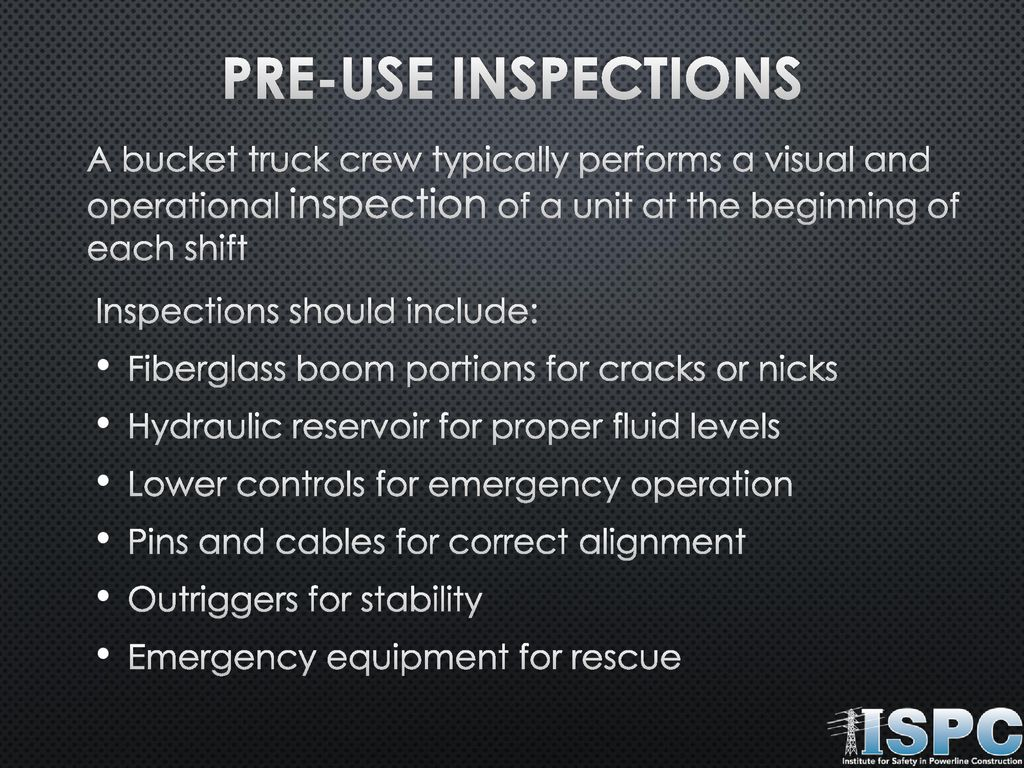Safe Bucket truck Operation - ppt download