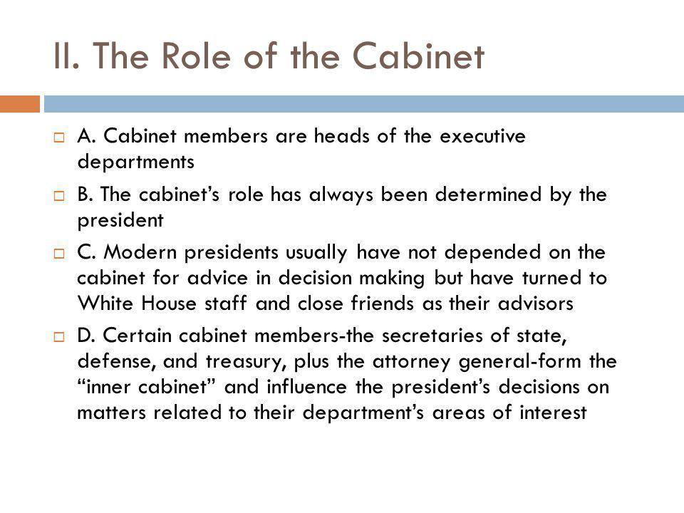 what is the role of cabinet members i the selection of the cabinet ppt 28313